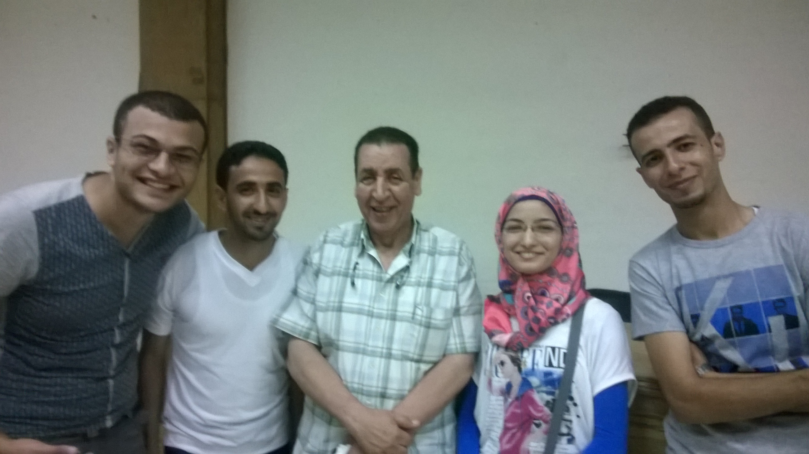 Student / Aya asla in the delegation of Zagazig University to discuss the new student list