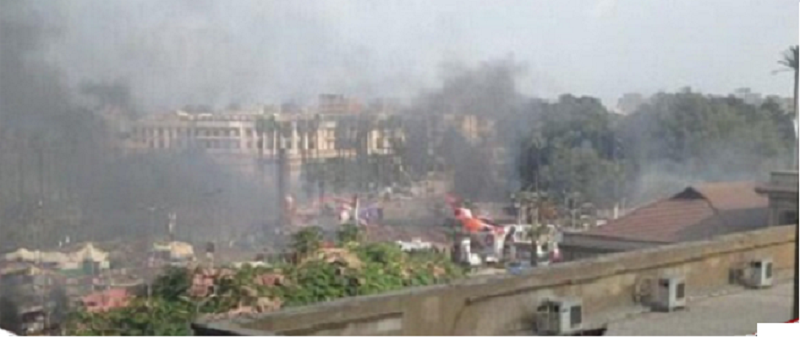 """Fire is limited to """"Calculators Zagazig"""" .. and the security of the university: nothing to do with the Brotherhood by"""