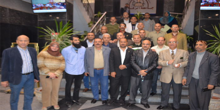 Representatives of trade unions in the universities of Egypt hospitality Zagazig University