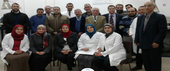 وفد المجلس الوطني للاعتماد خلال زيارة المعمل المركزي للتربة والاغذية والاعل