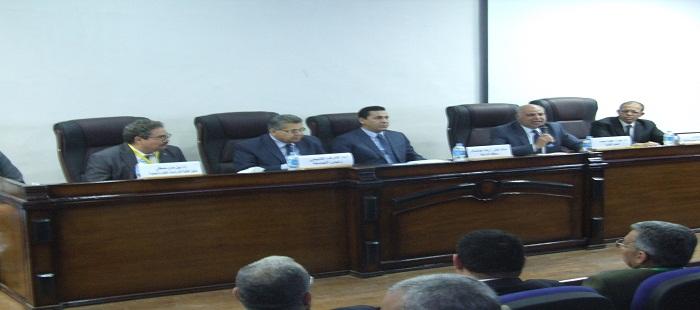 رئيس جامعة الزقازيق يفتتح ندوة عن تحلية المياة بالتناضح العكسى بهندسة الزقا