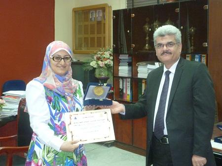 Honoring D / Abdel Nasser Hussein Riyad - Dr. / Nasreen Al Saber access to a doctorate degree