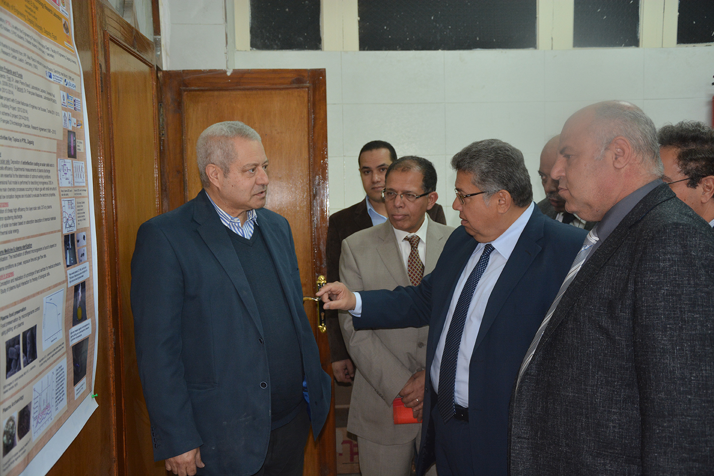 Prof. Ashraf Al Shihy, preseident of Zagazig University opened the  plasma technology and applications lab at Faculty of Engineering