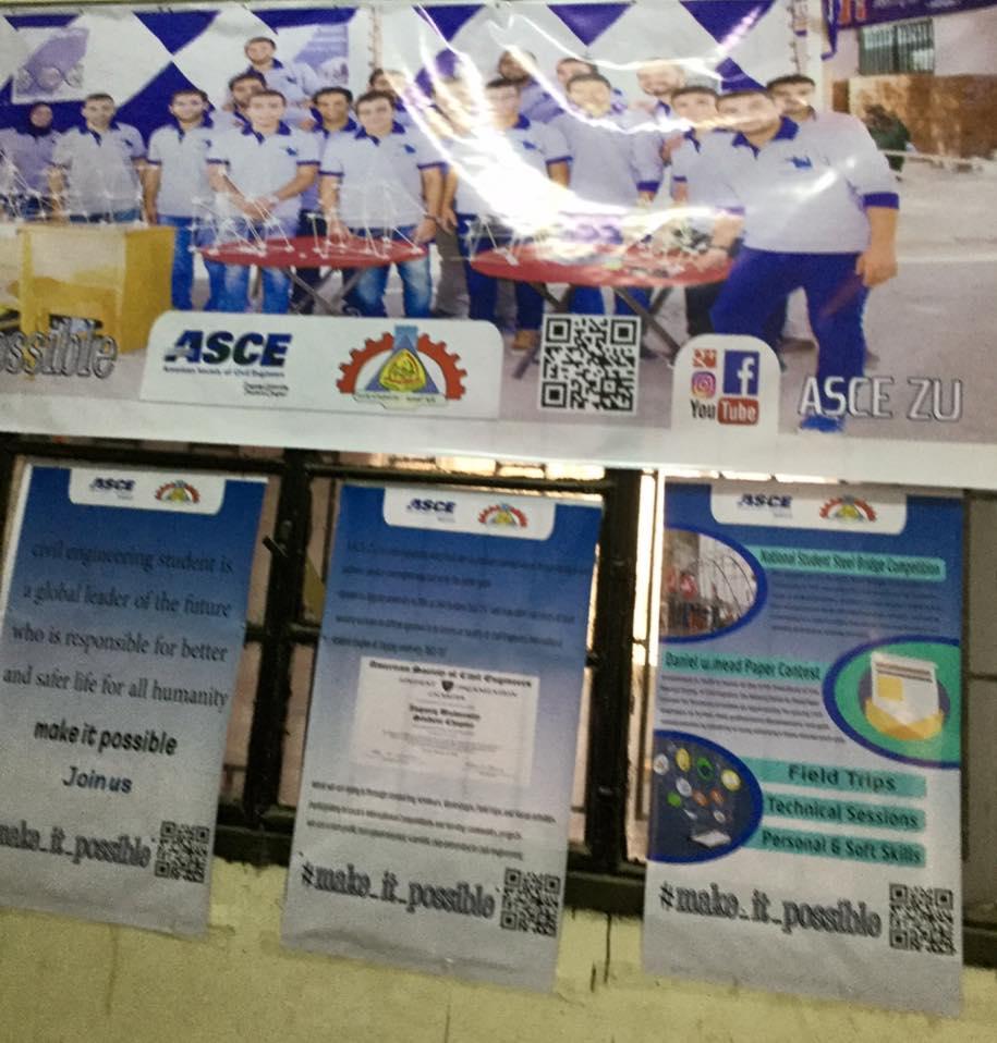 افتتاح مقر ASCE student chapter Zagazig university بمبني المعامل