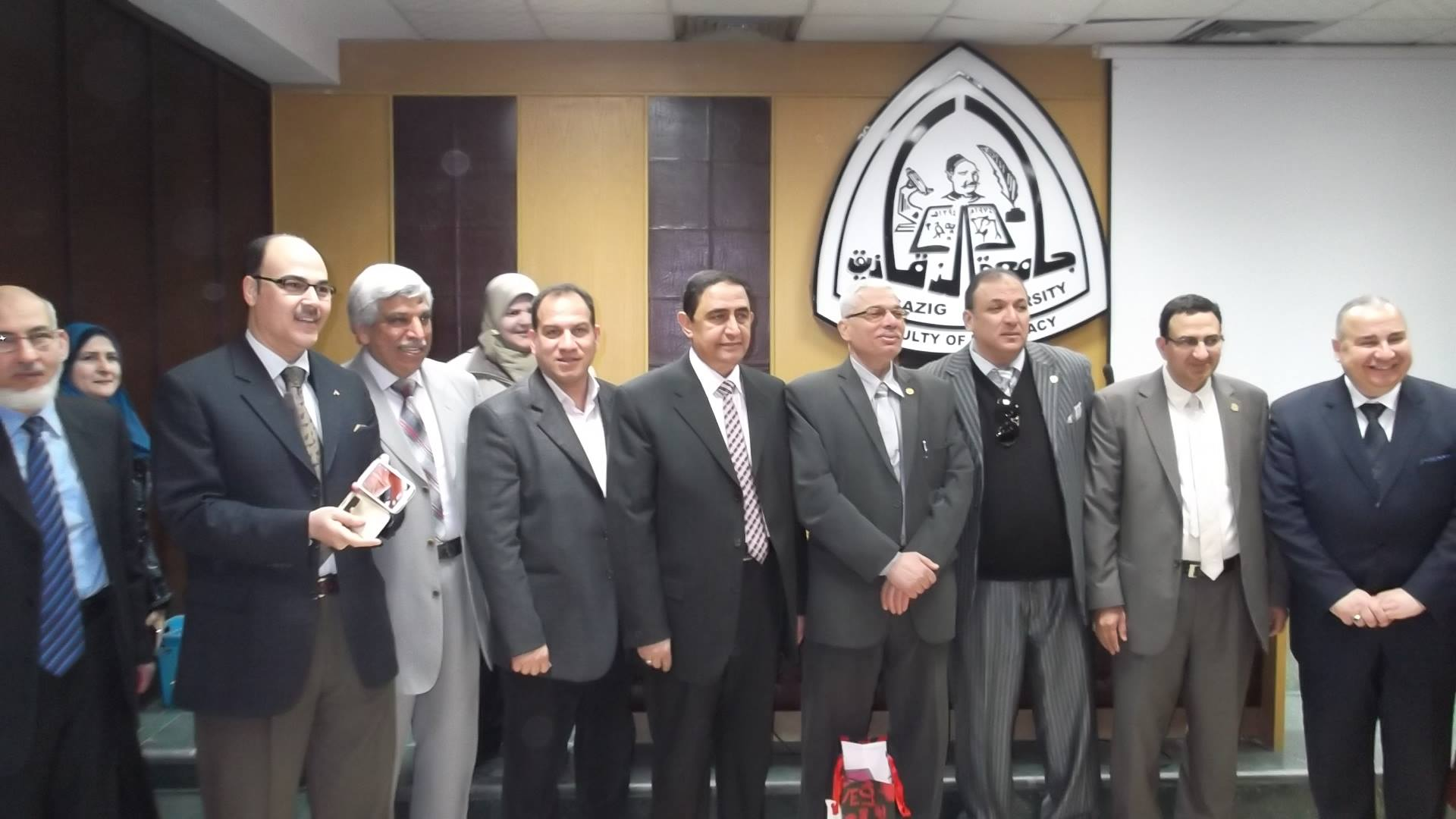 Celebration of the Faculty of Pharmacy to take over the D / Mohamed Mahmoud pond dean of the College of Pharmacy, Zagazig University, and in honor of D / Abdullah Shanawany former dean of the College