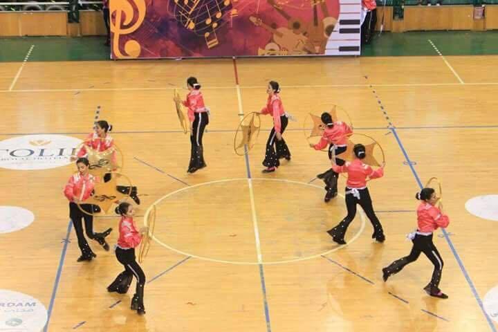 فازت كلية التربية الرياضة للبنات - جامعة الزقازيق بالمركز الاول في اللقاء الختامي للعروض الرياضية